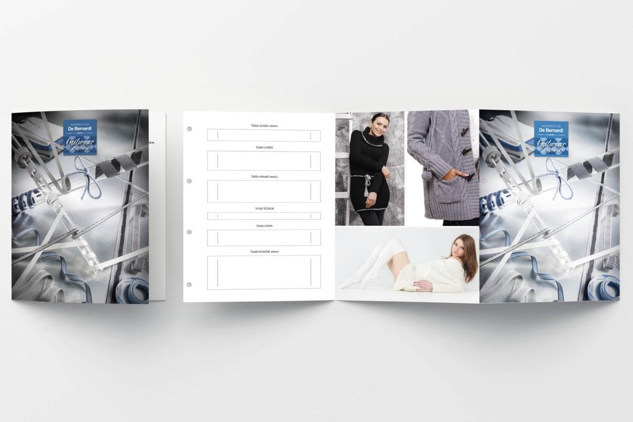 realizzazione grafica catalogo moda in lana