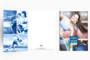 realizzazione folder per palestra