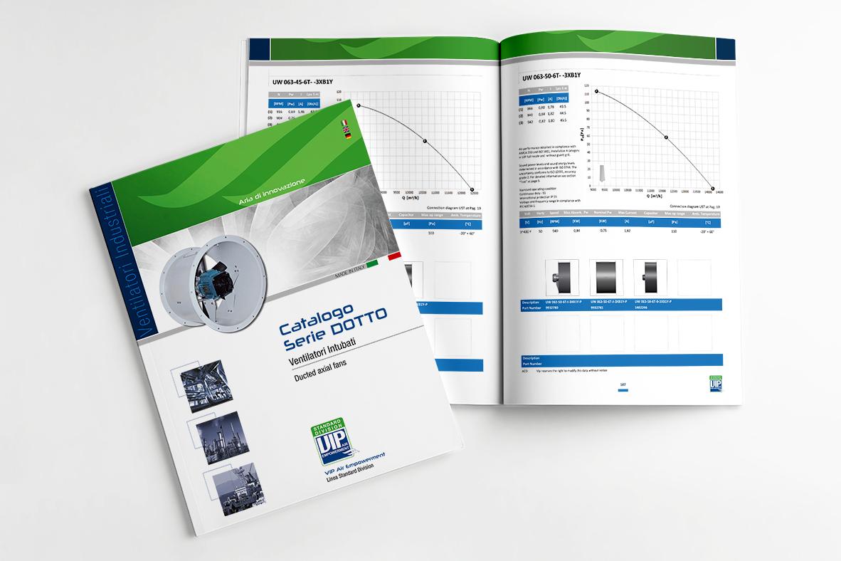 grafica e impaginazione catalogo prodotti
